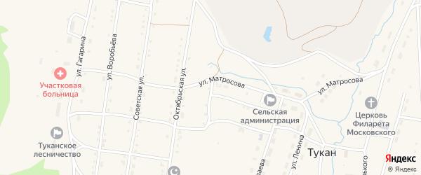 Улица Некрасова на карте села Тукана с номерами домов