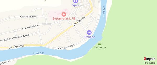 Советский переулок на карте села Старосубхангулово с номерами домов