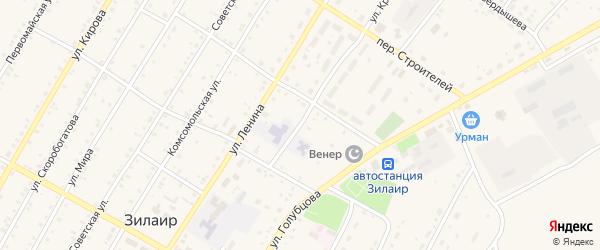 Улица Красных Партизан на карте села Зилаир с номерами домов