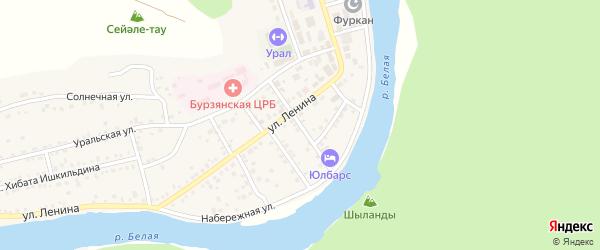 Банный переулок на карте села Старосубхангулово с номерами домов