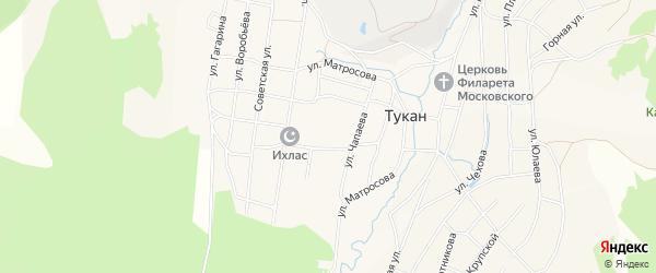 Карта села Тукана в Башкортостане с улицами и номерами домов
