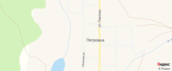 Нижняя улица на карте села Петровки с номерами домов