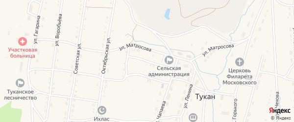 Маячная улица на карте села Тукана с номерами домов