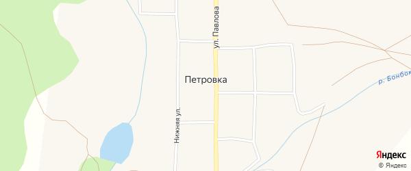 Заречная улица на карте села Петровки с номерами домов