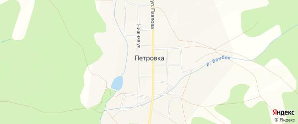 Карта села Петровки в Башкортостане с улицами и номерами домов