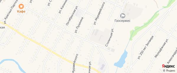 Улица Муравейского на карте села Зилаир с номерами домов