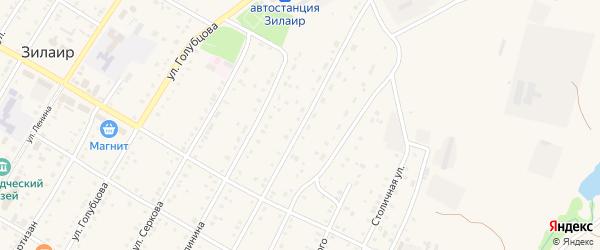 Октябрьская улица на карте села Зилаир с номерами домов