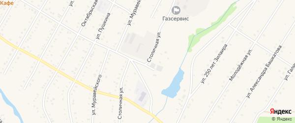 Столичная улица на карте села Зилаир с номерами домов