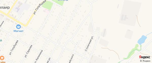 Улица Пушкина на карте села Зилаир с номерами домов
