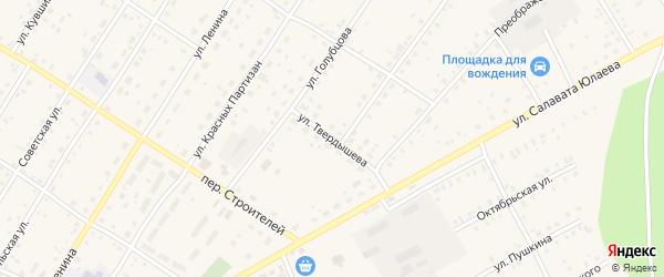 Улица Твердышева на карте села Зилаир с номерами домов