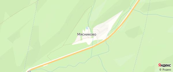 Карта поселка Мясниково в Челябинской области с улицами и номерами домов