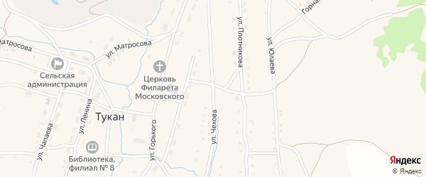 Улица Чехова на карте села Тукана с номерами домов