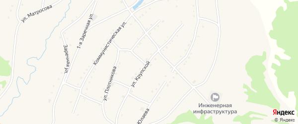 Улица Крупской на карте села Тукана с номерами домов