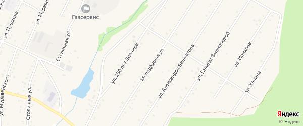 Молодежная улица на карте села Зилаир с номерами домов