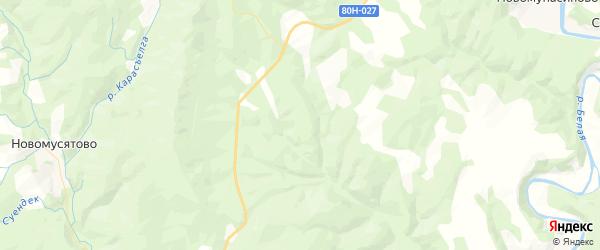 Карта Байгазинского сельсовета республики Башкортостан с районами, улицами и номерами домов