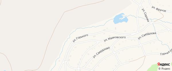 Улица М.Горького на карте села Тукана с номерами домов