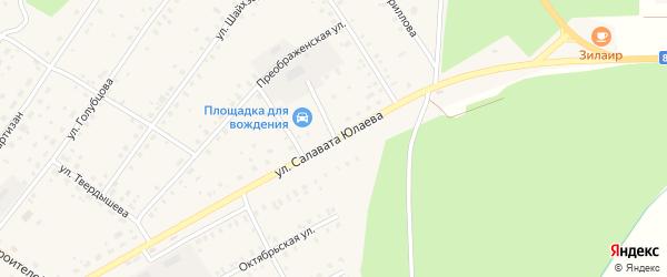 Улица С.Юлаева на карте села Зилаир с номерами домов