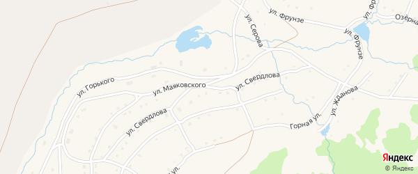 Улица Свердлова на карте села Тукана с номерами домов