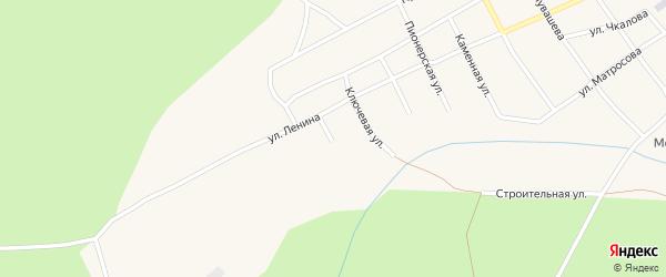 Подлесная улица на карте Кананикольского села с номерами домов