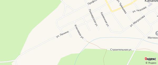 Ключевая улица на карте Кананикольского села с номерами домов
