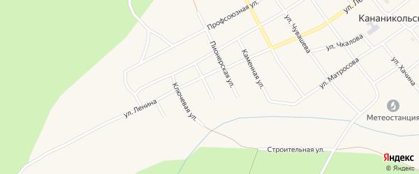 Баймакская улица на карте Кананикольского села с номерами домов