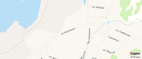 Улица Калинина на карте села Тукана с номерами домов