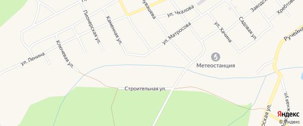 Строительная улица на карте Кананикольского села с номерами домов