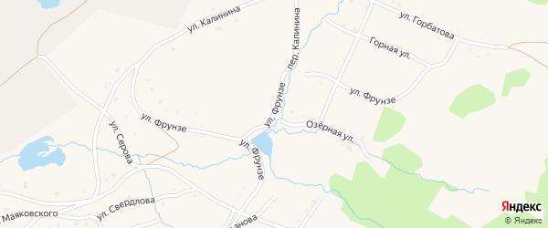 Улица Фрунзе на карте села Тукана с номерами домов
