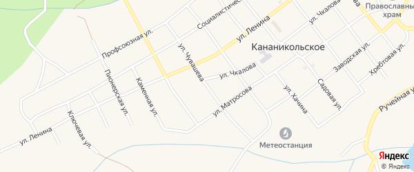 Улица Чувашева на карте Кананикольского села с номерами домов