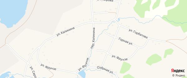 Переулок Калинина на карте села Тукана с номерами домов