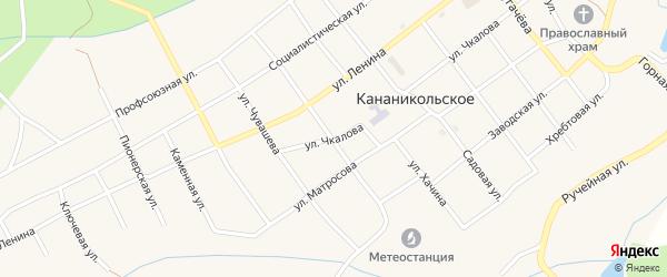 Уркасская улица на карте Кананикольского села с номерами домов