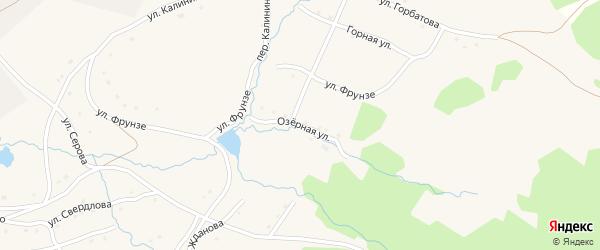 Озерная улица на карте села Тукана с номерами домов