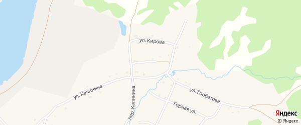 Улица Крылова на карте села Тукана с номерами домов