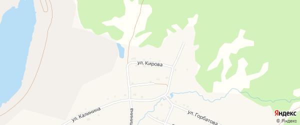 Улица Кирова на карте села Тукана с номерами домов