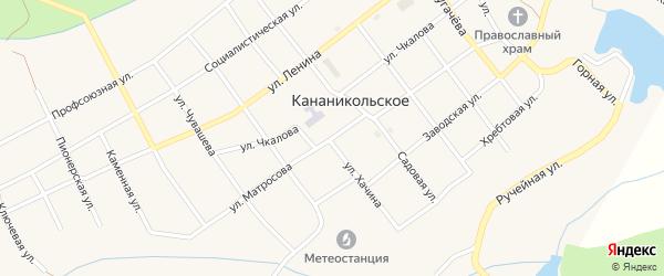 Улица Матросова на карте Кананикольского села с номерами домов