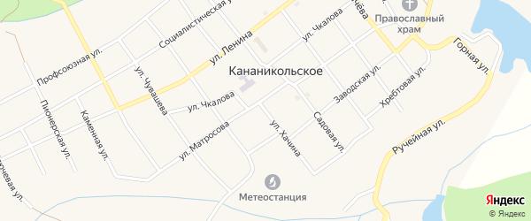 Улица Хачина на карте Кананикольского села с номерами домов