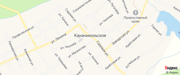 Кузнечная улица на карте Кананикольского села с номерами домов