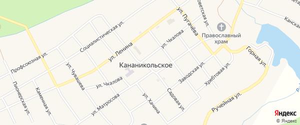 Улица Чкалова на карте Кананикольского села с номерами домов