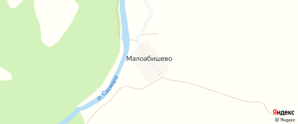 Условная улица на карте деревни Малоабишево с номерами домов