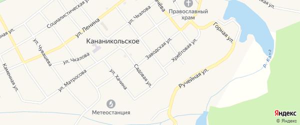 Заводская улица на карте Кананикольского села с номерами домов