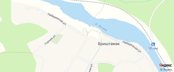 Набережная улица на карте села Бриштамака с номерами домов