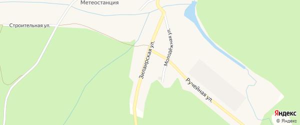 Зилаирская улица на карте Кананикольского села с номерами домов