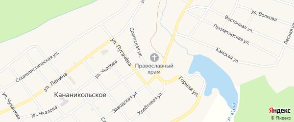 Советская улица на карте Кананикольского села с номерами домов