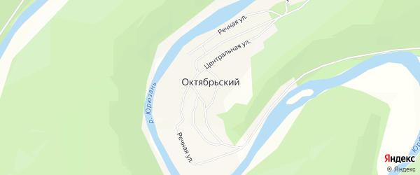 Карта деревни Октябрьского в Башкортостане с улицами и номерами домов