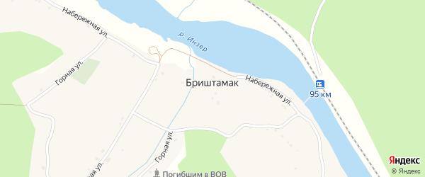 Молодежная улица на карте села Бриштамака с номерами домов