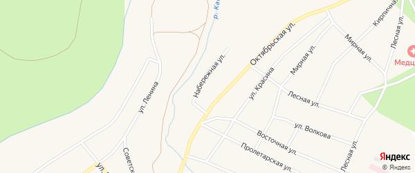 Набережная улица на карте Кананикольского села с номерами домов