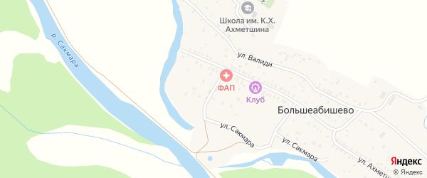 Улица Гагарина на карте села Большеабишево с номерами домов