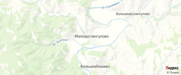 Карта Ивановского сельсовета республики Башкортостан с районами, улицами и номерами домов