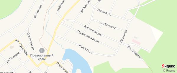 Пролетарская улица на карте Кананикольского села с номерами домов