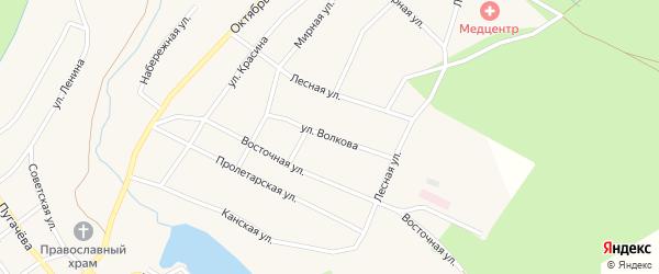 Улица Волкова на карте Кананикольского села с номерами домов